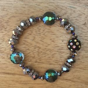 Vintage Handmade Shiny Beaded Rhinestone Bracelet